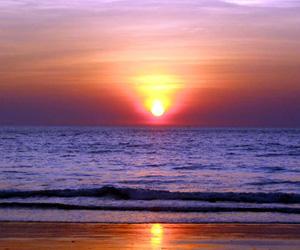 Solnedgang, Goa, Indien
