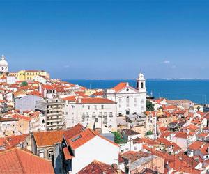 Lissabon set fra oven, Portugal