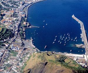 Marina i Horta på Faial-øen - Azorerne