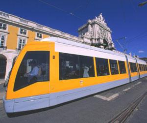 Moderne sporvogn, Praca do Comercio, Lissabon